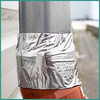 Bitumenband Anwendung Fallrohr