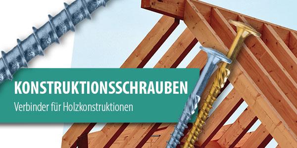 Konstruktionsschrauben Gelb Blau Holz