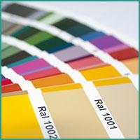 Abbildung RAL Farben Faecher