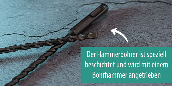 Abbildung Hammerbohrer Anwendung