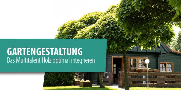 Header Gartengestaltung mit Holz